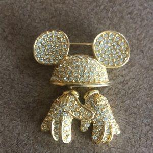 Disney mickey brooch pin